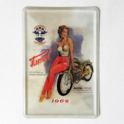 Famel Postal metálico 10x15
