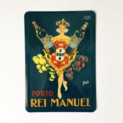 Rei Manuel Postal metálico 10x15