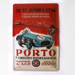 Porto - Placa metálica 20x30
