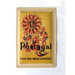 Portugal - Placa metálica 20x30