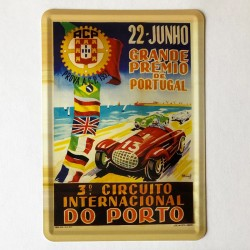 Rally Porto 1952 Postal Metálico 10x15