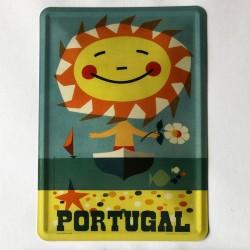 Portugal Sol - Barco Postal Metálico 10x15