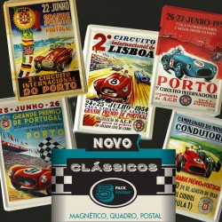 Pack 5 Postais Rally - Postais metálicos